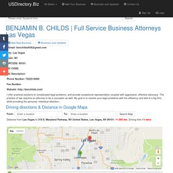 Full Service Business Attorneys Las Vegas