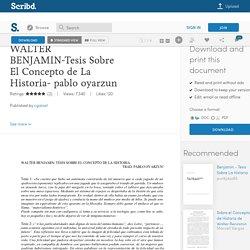 WALTER BENJAMIN-Tesis Sobre El Concepto de La Historia- pablo oyarzun