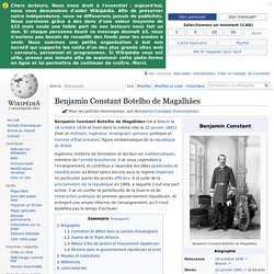 Benjamin Constant Botelho de Magalhães