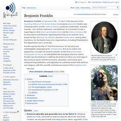 Benjamin Franklin - Wikiquote