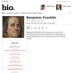 Benjamin Franklin - Scientist, Inventor, Writer - Biography.com