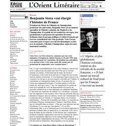 Benjamin Storaveut élargir l'histoire de France