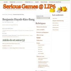 Benjamin Huynh-Kim-Bang - Serious Games @ LIP6