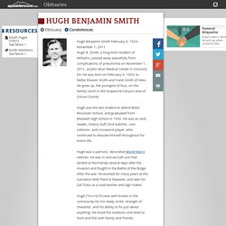 Hugh Benjamin Smith Obituary - Marysville, CA