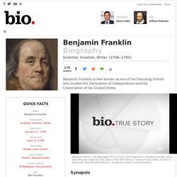 Benjamin Franklin - Scientist, Inventor, Writer