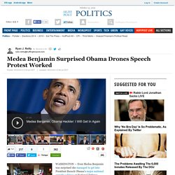 Medea Benjamin Surprised Obama Drones Speech Protest Worked