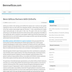 Benn Willcox Partners With Orthofix
