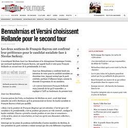 Bennahmias et Versini choisissent Hollande pour le second tour