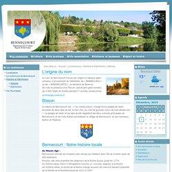 Bienvenue sur le site officiel de la ville de Bennecourt - Accueil>La commune>Histoire et Patrimoine>Histoire