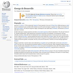 George de Benneville
