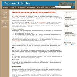 Benoemingsprocedure kandidaat-bewindslieden