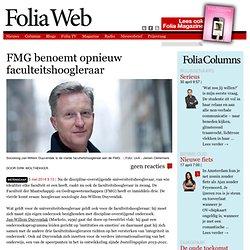 FMG benoemt opnieuw faculteitshoogleraar