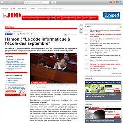 """Benoît Hamon : """"Le code informatique à l'école dès septembre"""""""