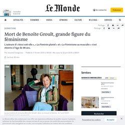 Mort de Benoîte Groult, grande figure du féminisme