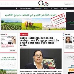 Paris : Miriem Bensalah revient sur l'engagement du privé pour une économie verte