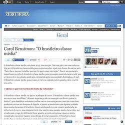 "Carol Bensimon: ""O brasileiro classe média"""