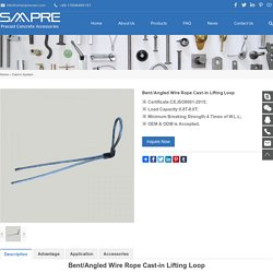 Bent/Angled Wire Rope Cast-in Lifting Loop