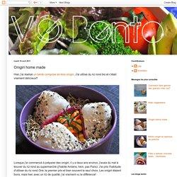 Mes bento végétariens: Onigiri home made