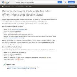 TOOLBOX - Google Maps - Création d'une carte - Centre d'aide Maps