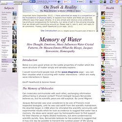 Memory of Water: Dr. Masaru Emoto & Crystal Patterns, Jacques Benveniste, Homeopathy, Experiments