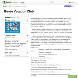 Benze Vacation Club