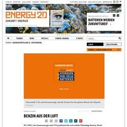 Benzin aus der Luft, Erneuerbare Energien - Energy 2.0