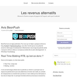 Avis BeonPush - Les revenus alternatifs