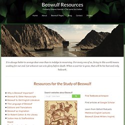 Resources for the Study of Beowulf