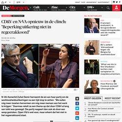 """CD&V en N-VA opnieuw in de clinch: """"Beperking uitkering niet in regeerakkoord"""""""