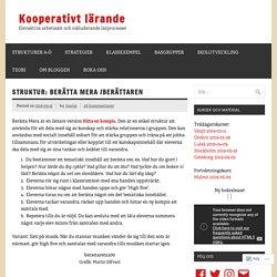 Struktur: Berättaren – Kooperativt Lärande