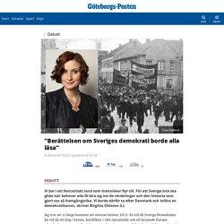 """""""Berättelsen om Sveriges demokrati borde alla läsa"""""""
