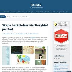 Skapa berättelser via Storybird på iPad