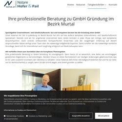 Beratung zu GmbH Gründung im Bezirk Murtal