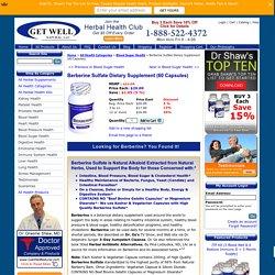 Buy Berberine Supplement - Berberine Herb - Get Well Natural LLC