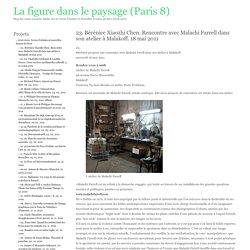 La figure dans le paysage (Paris 8) » 23. Bérénice Xiaozhi Chen. Rencontre avec Malachi Farrell dans son atelier à Malakoff. 18 mai 2011