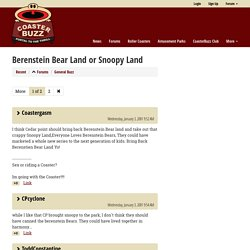 Berenstein Bear Land or Snoopy Land - CoasterBuzz