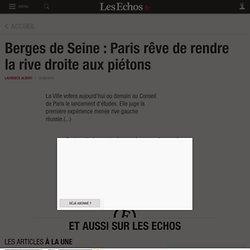 Berges de Seine: Paris rêve de rendre larive droite aux piétons, France