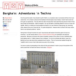 Berghain: Adventures in Techno