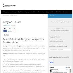 Bergson : Le Rire