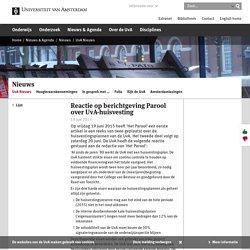 Reactie op berichtgeving Parool over UvA-huisvesting