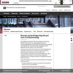 Reactie op berichtgeving Parool over UvA-huisvesting - Universiteit van Amsterdam
