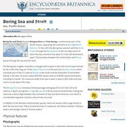 Bering Sea and Strait