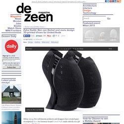 Hadid and Van Berkel create 3D-printed United Nude shoes