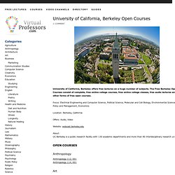 UC Berkeley Open Courses