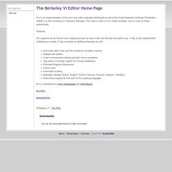 The Berkeley Vi Editor Home Page - keithbostic