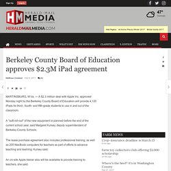 Berkeley County Board of Education approves $2.3M iPad agreement