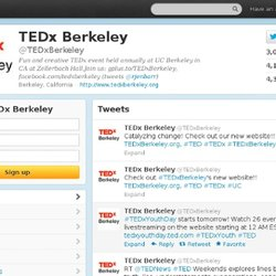 TEDx Berkeley (tedxberkeley) on Twitter