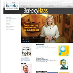 CalBusiness - The Magazine of the Haas School of Business at the University of California, Berkeley