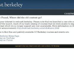 UC Berkeley Webcasts | Video and Podcasts: Spring 2009 Courses