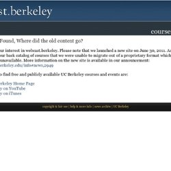 UC Berkeley Webcasts | Video and Podcasts: Spring 2008 Courses